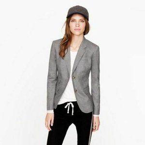 J. Crew Schoolboy Gray Wool Blazer Size 4